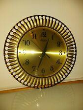 Mid Century Wanduhr Messing Sonnen Uhr Richter Quarz Sunburst Clock MCM