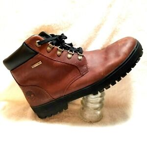 Timberland Mens hiking boots sz 10.5 M brown leather Waterproof A15YK 4959