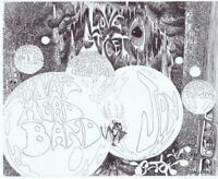 ORIGINAL 1960s Light Circus Love Street Feel Shivas Head Band Handbill Houston