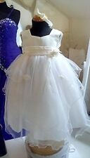 Little People flower girl dress in Ivory Age 3 with headband