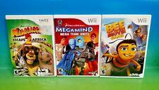 Madagascar 2, Bee Movie Game, Megamind -  Nintendo Wii 3 Games Dreamworks Disney