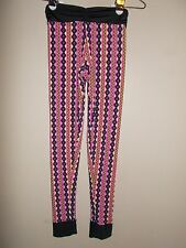 New Fit Style Womens Size S Multi-Color Vertical Striped Skinny Stretch Legging