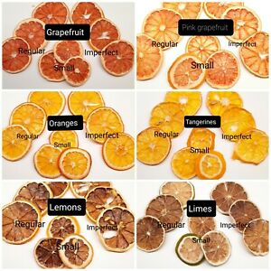 20-50 Edible dried orange, lemon, tangerine, lime, grapefruit slices