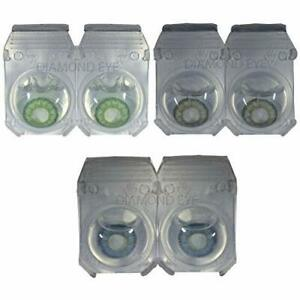 Monthly Green,Grey & Dark Blue Lens with solution and cases 3 Pair