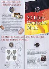BRD 1998: DM-50-Jahre-Numisblatt 1-DM-Münze+Viererblock der Nr. 1996 +1904! 1704
