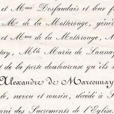 Joseph Alexandre Gigault De Verdigny De Marconnay Saumur Maine-et-Loire 1854