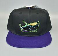 Tampa Bay Devil Rays Vintage 90's Drew Pearson Twill Snapback Cap Hat - NWT