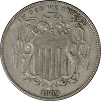1869 Shield Nickel Great Deals From The Executive Coin Company