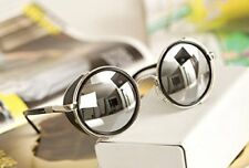 Round Glasses Mirror lens Cyber Goggles Steampunk Sunglasses