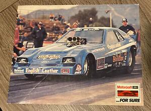 "Raymond Beadle ""Blue Max"" Funny Car NHRA Drag Racing Motorcraft 8x11 Promo Card"