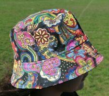 Psychedelic Trippy Bucket Hat Fruit Festival Unisex HIPPIE