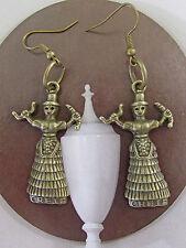 Fit for a GODDESS-BRONZE Ancient MINOAN EARTH/SNAKE GODDESS from CRETE Earrings