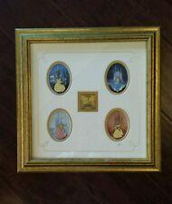 Artist Proof Ap Princess Framed 5 Pin Disney Set Le Belle Cinderella Rare