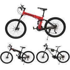 24/26 inch Mountain Bike Disc Brake 21-Speed Men Women Folding Mountain Bike US