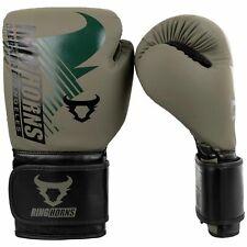 Ringhorns Charger MX Boxing Gloves Khaki Black Muay Thai Kickboxing Sparring