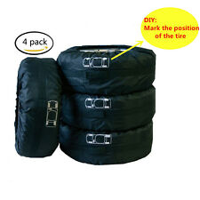 "4 Pcs Tire Hide Seasonal Extra Tire Cover Storage Bag - Garage Mate 13""-19"" Tyre"