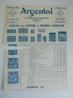 Catalogue Commerciale Istituzioni Argental Prezzi Illustrato Febbraio 1939