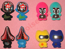 Tous les 4 rare most wanted GOGOS superstar série 5-GOGO'S Crazy Bones-ensemble complet