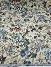 """Decorative Fabrics Inc. NY Floral Weighted Woven Tapestry Fabric Piece 27""""x26"""""""