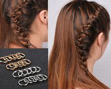 New Style 10Pcs Hip-Hop Braid Ring Hair Clip Pin Hair Accessories Gold Silver