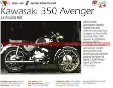 KAWASAKI 350 Avenger ( Coupe KAWA MOTO REVUE ) 1969 Fiche Moto 000198