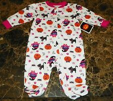 """""""NEW"""" Pumpkin Cat Owl HALLOWEEN ~ Infant CREEPER BODYSUIT FOOTIE ~ 3M 6M Costume"""