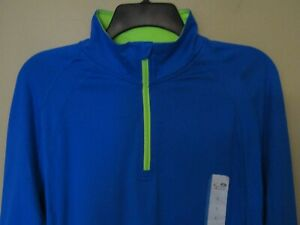 NEW! Champion Duo Dry Women 1/4 Zip Long Sleeve Athletic Pullover BRIGHT BLUE
