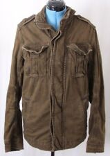 Abercrombie & Fitch A&F Olive Full Zip Sentinel Military Jacket Coat Men's L
