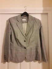 Marks and Spencer Classic lovely cotton/linen fine stripe ladies jacket size 16