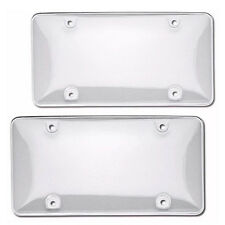 2pcs ABS Plastic Clear License Plate Tag Cover Frame Protector For Car Truck