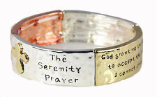4031546 Serenity Prayer Bracelet Strength Courage Hope AA ALNON 12 Step God G...