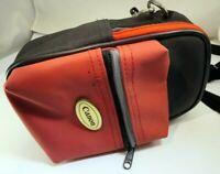 "Canon 6X4"" Case Powershot camera small Red-Black w/ Shoulder strap"