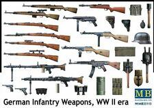 WW II GERMAN INFANTRY WEAPONS (MG34, MG42, MP9, StG44, K98)35115 1/35 MASTERBOX