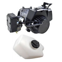 47cc 49CC 2 STROKE MOTOR ENGINE POCKET DIRT BIKE ATV QUAD + Gas Petrol Fuel Tank