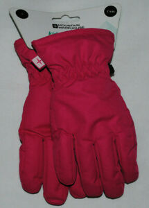 Mountain Warehouse Pink Kids Winter Warm Skiing Snow Gloves Size Small RRP £15