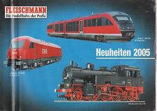 FLEISCHMANN HO N GAUGE MODEL RAILWAYS NEW ITEMS FOR 2005 CATALOGUE GB FR DE TEXT