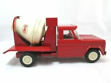 Vintage STRUCTO Cement Mixer Dump Truck RED Construction Vehicle Pressed Steel