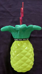 PINK VICTORIA'S SECRET  Pineapple Tropical Summer Tumbler & Straw  27 oz NEW!
