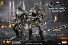 "Sideshow Hot Toys 1/6 Scale 12"" Avengers Chitauri Commander & Footsoldier MMS228"