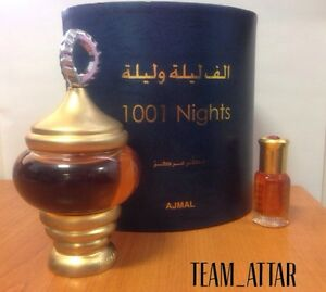 6ml 1001 Nights By Ajmal Arabian Attar itr Perfume Oil Alf Lail O Laila Ittar