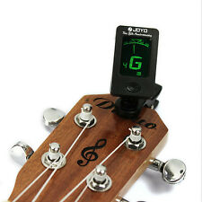 Chic Clip-on LCD Digital Chromatic Electronic Guitar Tuner Bass Violin Ukulele L