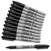 Genuine SHARPIE Black FINE Point Bullet Tip Permanent Marker Pens Assorted Packs