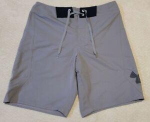 Under Armour Men's Swim Trunks Gray Size 32 HeatGear Shorts