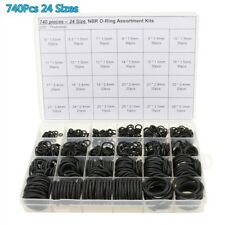 740X 24Size Blk Rubber O-Ring Gasket Assortment Fit For Repairing Air condition