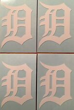 """Detroit Tigers Old English D 4 Pack White Decals 1.38""""x 2""""""""**FREE SHIPPING**"""