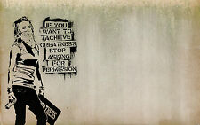 A1 SIZE PRINT BANKSY Graffiti Street Art Wall Decor CANVAS