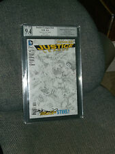 Justice League #14 1:100 Sketch Variant NEW 52 PGX SS 9.4 Signed Daniel B&W CGC