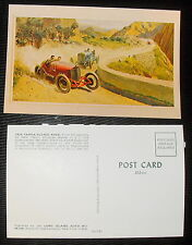 Vintage Postcard Post Card 1924 Targa Florio Race Painting by Peter Helck - 1963