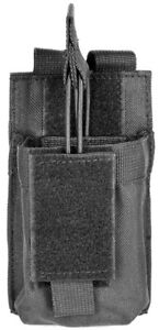 Tactical MOLLE PALS Black Radio Pouch Fits Kenwood HT TH-D72A TH-K2AT Radios