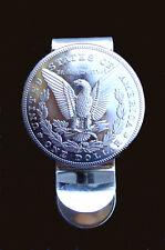 Western Jewelry Money Clip Bright American Eagle Silver Dollar Concho Repro.